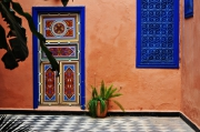 photo architecture bleu taroudant : taroudant