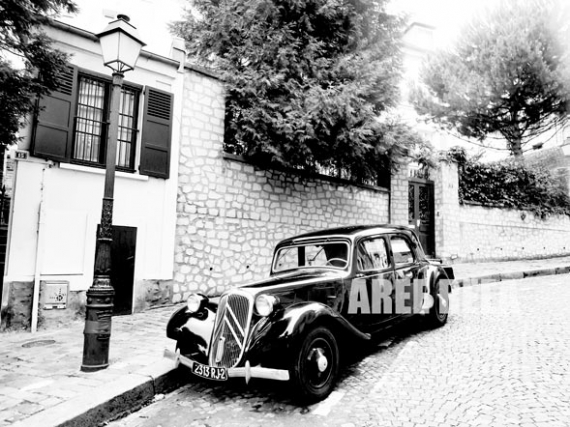 PHOTO Citroen Paris Montmartre Paysage Villes  - Traction Avant