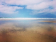 photo paysages ocean bleu minimaliste meditation : L'instant