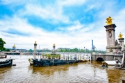 photo paysages paris tour effeil pont alexandre iii la seine : Paris - La Seine En Crue
