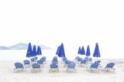 photo paysages umbrella parasols bleu blanc : umbrellas
