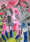 photo personnages aquarelle personnage jeunesse illustration : My little girl
