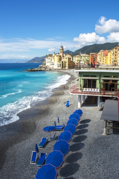 PHOTO photographie italie mer plage Paysages  - Camogli en Italie