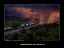 Photo - Train under storm, New-Mexico