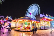 photo villes lumieres light painting manege fete : Douce nuit