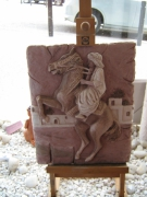 sculpture animaux : Bas relief cheval