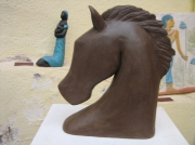 sculpture animaux : cheval moderne