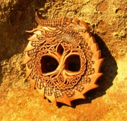 sculpture autres sculpture norsemythologie woodcarvingart artworkforsale : OUROBOROS et YGGDRASIL