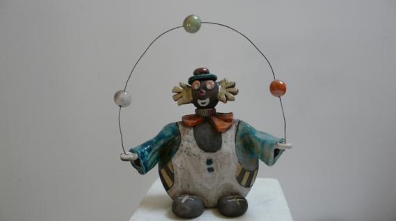 Sculpture Clown Sculpture Jongleur Cirque Clown Jongleur