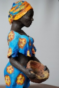 sculpture personnages : africaine