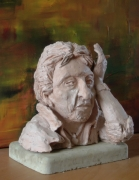 sculpture personnages gainsbourg buste : serge gainsbourg