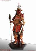 sculpture personnages japon guerrier tradition collection : SAMOURAÏ ROUGE