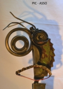 sculpture personnages metalucubration sculpture metal trombine : PIC-ASSO