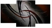 tableau abstrait abstraction peinture abstrait acrylique : 282 - Abstraction triptyque