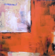 tableau abstrait abstrait acrylique atmosphere construction : Etude en Orange I