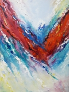 tableau abstrait art : painting *Wave of bright emotions*