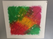 tableau abstrait couleur reliefs : HAPPY DAYS