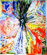 tableau abstrait horloge emotionelle cedric busque : Horloge emotionelle