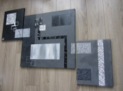 tableau abstrait moderne abstrait contemporain : Grey