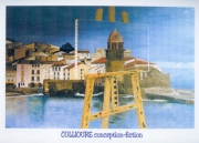 tableau abstrait po : COLLIOURE FICTION ET CONCEPTION