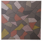 tableau abstrait pointillisme marron triangles aiguille ,a tricoter : Triangles