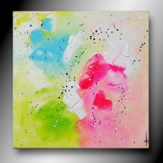 tableau abstrait tableau abstrait colore moderne : CANDY