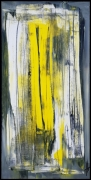 tableau abstrait tableau abstrait vertical jaune : FEELING