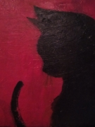 tableau animaux chat silhouette : Chelsea