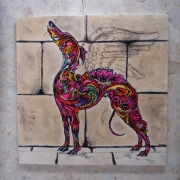 tableau animaux chien whippet levrier ange : Grenadine