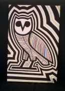 tableau animaux chouette mort posca drake : DEAD OWL