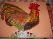 tableau animaux : COQ FLAMBOYANT