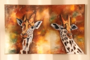 tableau animaux : Dames girafes