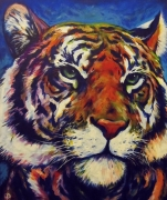 tableau animaux felin animal graphique : Tigre street-art