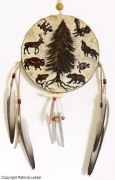 tableau animaux foret animaux sauvages attrapereves spirituel : Wild circle