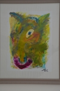 tableau animaux moderne abstrait animal colore originale signee oeuvre art : ah non