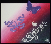 tableau animaux papillon arabesque : Pink Butterfly