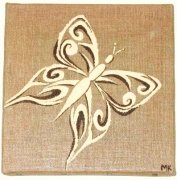 tableau animaux papillon tribal arabesque : Petit papillon