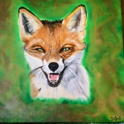 tableau animaux renard animaux totem foret : Foxy