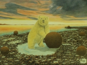 tableau animaux surrealisme realisme animalier nature : Worst is yet to come in the Arctic