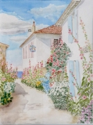 tableau architecture charentes maritimes talmont gironde : 1995-04 Talmont ruelle passerose