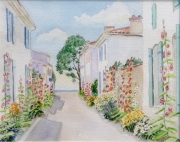 tableau architecture charentes maritimes talmont gironde : 1995-23 Talmont rue principale