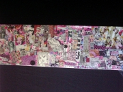 tableau autres art pop collage customisation art de rue : PINK LADY
