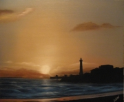 tableau autres royan phare mer couchant : le phare de St george de Didonne