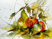 tableau fruits aquarelle abby fruits watercolor : Aquafeutre 18
