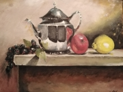 tableau fruits theier citron pomme resin : la nature morte