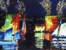 Tableau - La Rochelle by night