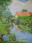 tableau marine paysage somme favieres : PAYSAGE