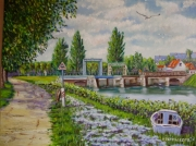 tableau marine st valery somme l ecluse : BAIE DE SOMME (st valery/somme)