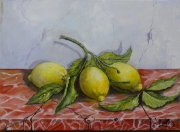 tableau nature morte : citrons