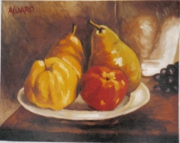 tableau nature morte fruits : NATURE MORTE 2